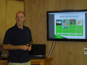 "Craig doing ""The 7 Rules of Healthy Eating"" Presentation- 7-8-2014"